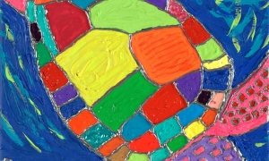 Stained Glass Turtle, 9/6/13, 9:50 AM, 8C, 6000x8000 (0+0), 100%, Custom, 1/20 s, R127.3, G105.2, B124.2